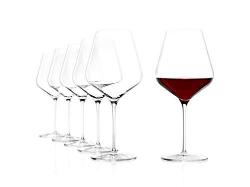 Stölzle Lausitz Gläser Starlight, 6er Set Burgunderkelch, hoch Funktionelle Weinkelche, spülmaschinenbeständig (820 ml)