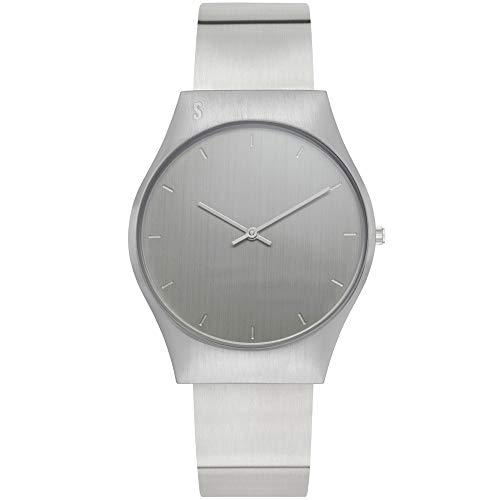 STORM London Soren Silver, Armbanduhr, Edelstahlgehäuse, 5 bar Wasserdicht, Mineralglas, Analoguhr, 47439/S