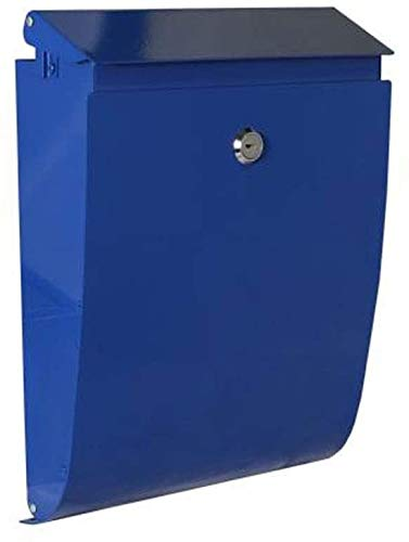 LSYFCL Mailbox Mail Manager Locking Security MailboxPost Box Wall Mount Mailbox European Style Outside Galvanized Sheet Secure Letterbox Mailboxes for Outside Post Mount
