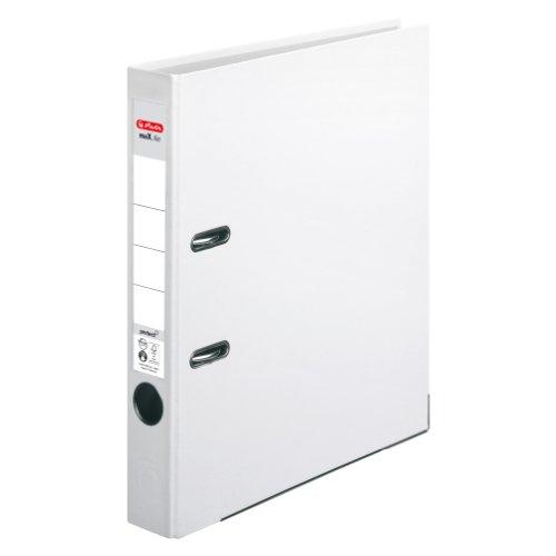 Herlitz 5450705 Ordner maX.file protect (A4, 5 cm, mit Einsteckrückenschild) weiß