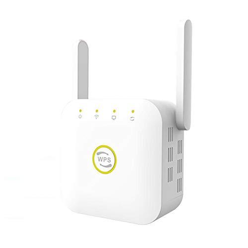XIANGHUI Repetidor WiFi, Amplificador WiFi de 2,4 GHz / 300 Mbps, Amplificador de señal WiFi con Amplia Cobertura, Extensor WiFi con Botón WPS, Modo 3 en 1 (Repetidor/Enrutador/Ap), Puerto Ethernet
