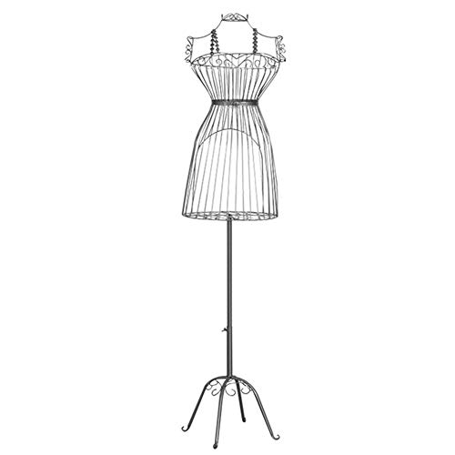 ZAQI Maniqui Costura Modista Busto Modelo de Vestido de Alambre Femenino, Torso de Maniquí de Metal Ajustable en Altura Vintage para Exhibición de Prendas de Vestir de Mujer (Color : Gold)