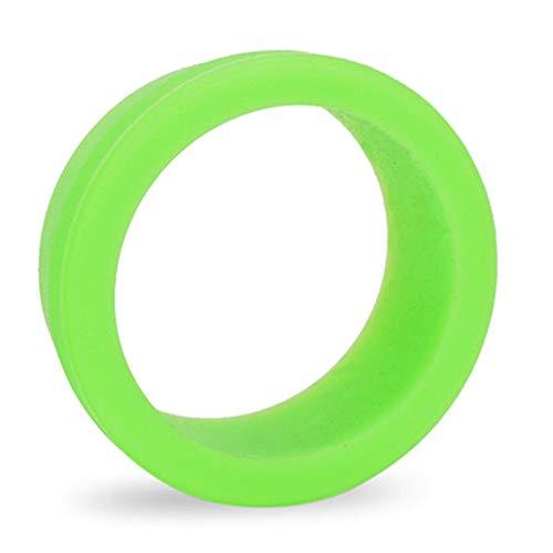 VerneAnn - Funda para tija de sillín (1 par) de silicona suave al aire libre decorativa Mini bicicleta de montaña accesorios para bicicleta de bicicleta de montaña, elástico, resistente al polvo (negro), No nulo, verde, large