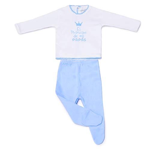 PEKITAS Conjunto Pijama Bebe Recien Nacido 100% Algodón Fabricado En Portugal Azul