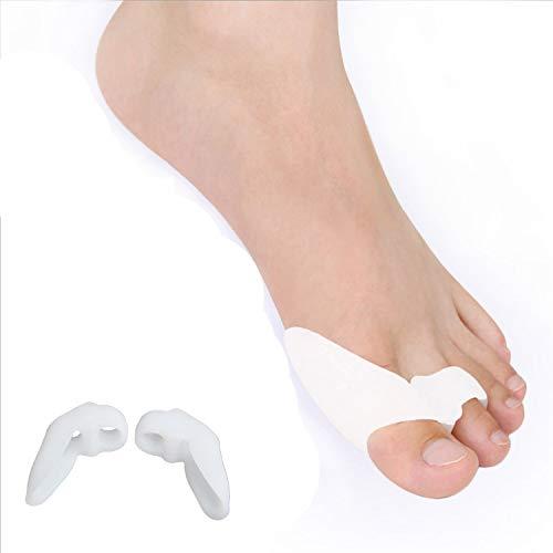 Almohadilla para juanetes y separador de dedos, 2 unidades para aliviar el dolor de los juanetes y los juanetes, separadores de dedos de gel suave para calmar los sentidos juanetes y juanetes