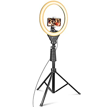 UBeesize 12'' Ring Light with Tripod Selfie Ring Light with 67'' Tripod Stand Light Ring for Video Recording&Live Streaming YouTube Instagram TIK Tok  Compatible with Phones Cameras and Webcams