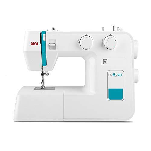 Alfa NEXT 40 Spring - Máquina de coser con 25 puntadas, color azul cielo