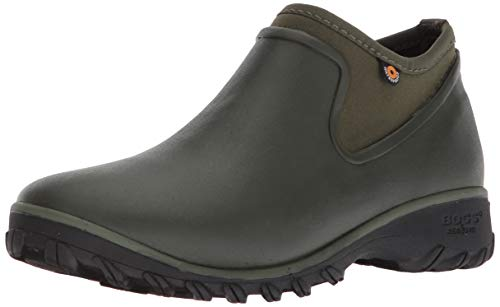 BOGS Women's Sauvie Chelsea Waterproof Garden Rain Boot, Sage, 8