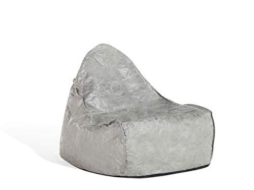 Beliani Trendy Sitzsack mit EPS Kugeln Kunststoff grau Drop