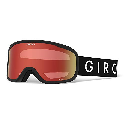 Giro Roam Adult Snow Goggle - Black Core Strap with Amber Scarlet/Yellow Lenses