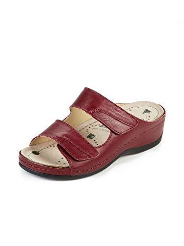 Avena Damen Magnetfußbett-Pantolette Rot Gr. 39