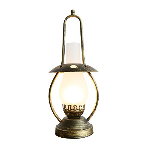 Yankuoo Vintage Studio Desk lamp, E27 lichtbron, metaal + glas, industriële lamp voor woonkamer slaapkamer bedlampje
