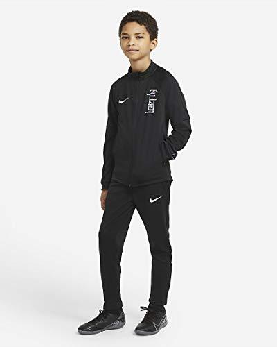 Nike CV1500-010 KM Y NK DRY TRK SUIT K Tuta da ginnastica Unisex - Bambini black/black/black/(hologram) L
