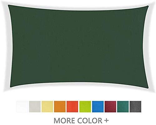 Toldo Vela Rectangular Velas de Sombra Sun Impermeable rectángulo Canopy for Patio al Aire Libre, jardín, terraza y Camping, 95% UV Bloque Toldo, 10 Colores (Color: Verde Oscuro, tamaño: 2.5X3M)