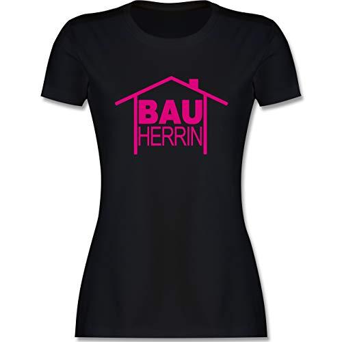 Sprüche - Bauherrin Heimwerker - M - Schwarz - akkuschrauber Maedchen - L191 - Tailliertes Tshirt für Damen und Frauen T-Shirt