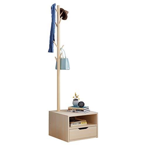 Portemanteau Portemanteau en Bois Massif Portemanteau de Salon Portemanteau créatif Portemanteau Polyvalent Stable et Durable (Color : Wood Color, Size : 40 * 40 * 167cm)