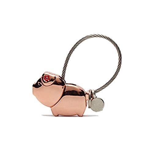 SZLGPJ Dulce Piggy Llavero Lindo Piggy Pareja Llavero San Valentín Día de Amor Token Rosegold