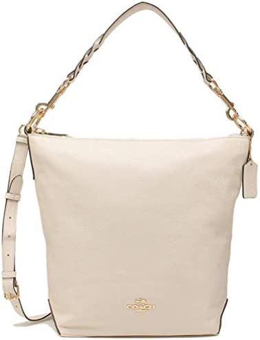 Coach Women s Leather Abby Duffle Shoulder Bag Chalk product image