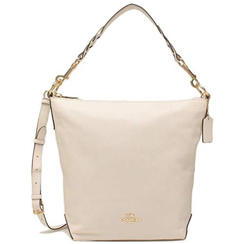 Coach Women's Leather Abby Duffle Shoulder Bag (Chalk)