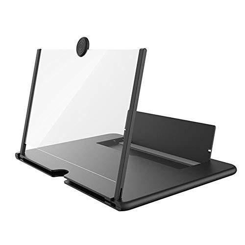Monbedos 3D mobiele telefoonversterker, 3D-vergrootglas, 3D-vergrootglas, voor smartphones en merken, zwart