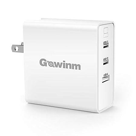 【11/14まで】GOWINM GaN窒化ガリウム採用65W PD対応USB-C×2 & USB-A 3ポート折り畳み式充電器 1,480円送料無料!