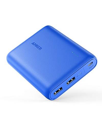 Anker PowerCore 13000mAh - Banco de Carga, batería Externa 2 Puertos 3A, Cargador portátil con PowerIQ y tecnología Voltage Boost™para iPhone XS MAX/XR/XS/X / 8 / 8Plus / 7 / 6s / 6Plus (Azul)