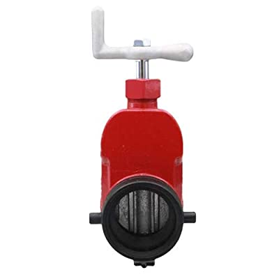 "Red Aluminum 2 1/2"" Fire Hydrant Gate Valve by FireHoseDirect"