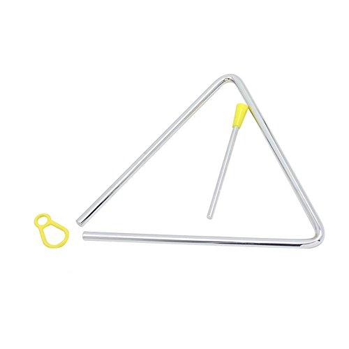 Alomejor - Triángulo de percusión Musical, triángulo de Acero, Juego de Instrumentos con triángulo para la educación Preescolar
