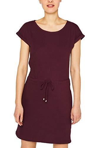 ESPRIT Damen 049EE1E004 Kleid, Rot (Bordeaux Red 600), Medium (Herstellergröße: M)