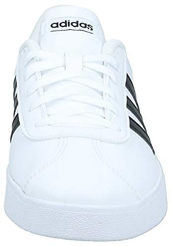 Adidas Vl Court 2.0 K, Zapatillas de deporte Unisex niños, Blanco (Ftwbla/Negbas 000), 38 EU