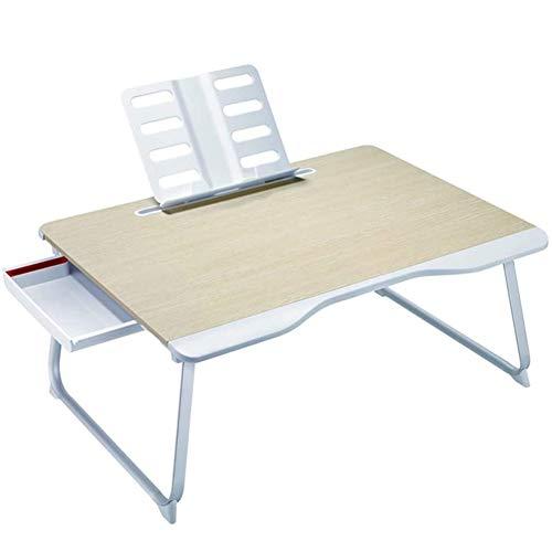 YYYUR Faltbaren Laptop-Computer-Schreibtisch, Sofa-Computer-Schreibtisch, mit Aufbewahrungsbox und Leseständern, Massivholz-Material, Frühstück Büro-Studien