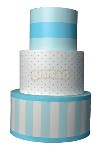 Biribao - Tarta de poliestireno de color azul