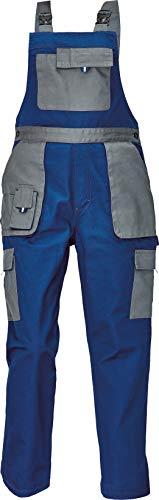 DINOZAVR Max Evolution Damen Latzhose - Modern Muster Multi-Taschen Strapazierfähige Arbeitshose - Blau/Grau 36