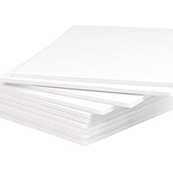 Mat Board Center Pack of 10 Foam Boards 11x14 inch  Many Sizes Available  1/8  Thick White Foam Boards  Acid-Free