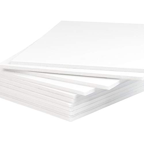 "Mat Board Center, Pack of 10 Foam Boards, 11x14 inch (Many Sizes Available) 1/8"" Thick, White Foam Core Backing Boards (Acid-Free)"