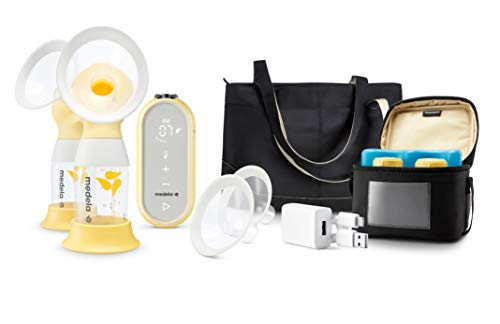 Medela Breast Pump | Freestyle Flex Double Electric Breast Pump | USB & Bluetooth | More Milk in Less time | Breastfeeding Support | Includes Cooler Bag,4 Bottles, Shields