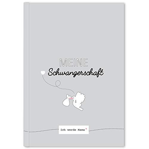 CUPCAKES & KISSES® Schwangerschaftstagebuch I Tagebuch für die Schwangerschaft zum eintragen I Tolles Geschenk für Schwangere und werdende Mütter
