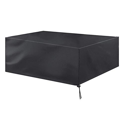 YYLNB Patio Furniture Covers 420D Oxford Polyester Garden Furniture Cover Outdoor Rectangular Garden Table And Chairs Covers Black,135x135x74cm,120x120x74cm