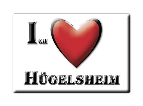 Enjoymagnets HÜGELSHEIM (BW) Souvenir Aimant DE FRIGO Allemagne Baden WÜRTTEMBERG IDÉE DE Cadeau Magnets Je Aime