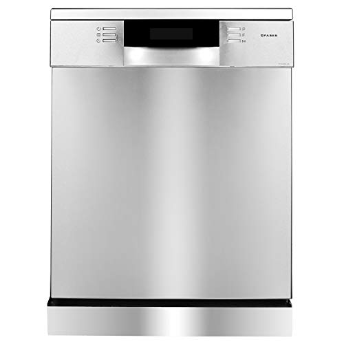 Faber 14 Place Settings Dishwasher, FFSD 8PR 14S, Silver, Power 3D Wash for Tough Stains, Silent operation