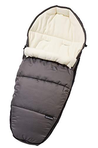 Gesslein Fußsack 716250000 Sleepy/Winterfußsack für Kinderwagen, Sportwagen, Buggy, Babywanne oder Schlitten, grau