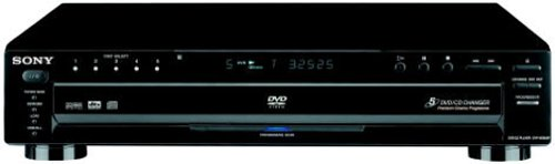 Sony DVPNC665P/B 5-Disc Progressive Scan DVD Changer, Black