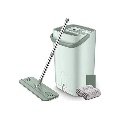 XYZMDJ mop, handsfree, vlak, squeeze mop voor het scheiden van vuile water, schoon voor vochtig en droog op hardhouten mopping
