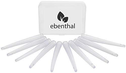 Einlaufspitzen 10er Ersatz-Set EBENTHAL VITAL ® – Flexible Aufsätze für den komfortablen Darmeinlauf zur Darmreinigung – BPA-frei – Sparen Sie 5% beim Kauf ab zwei Packungen