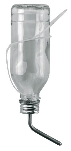 Kerbl 74125 Trinkflasche für Kaninchen, 500 ml aus Glas komplett mit Aluröhrchen