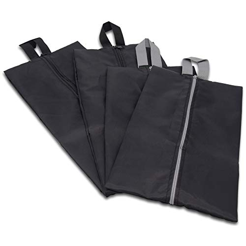 Shoe Bags for Travel With Zipper, Waterproof Nylon, Shoe Covers, Storage Bags for Suitcase Organization, Packing, Luggage, Pool, Gym, Golf, Bowling, Laundry - Assorted Sizes 4 Pcs.