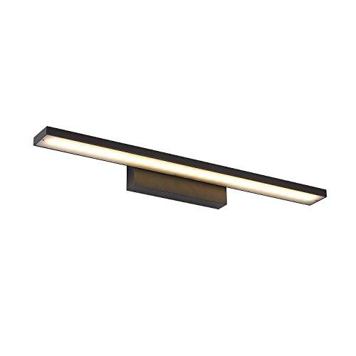 16W Spiegelleuchte Badlampe Wandleuchte Warmweiß Badleuchte 800mm Aluminium Wasserdicht Stilvolles Elegante Schwarz (16W Warmweiß Schwarz)