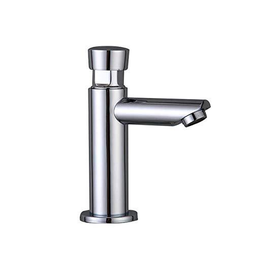 Cuarto de baño lavabo de cobre Tiempo de retardo del grifo táctil Pulse Auto de cierre automático individual de ahorro de agua fría Toque para Baños públicos, A3