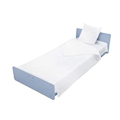 45 Einweg Bettwäsche Set, Einweg Krankenhauskit aus Vliesstoff, Einzelbett, 2 Bettlaken Cm 140 x 240 und 1 Kissenbezug Cm 60 x 80, Made in Italy