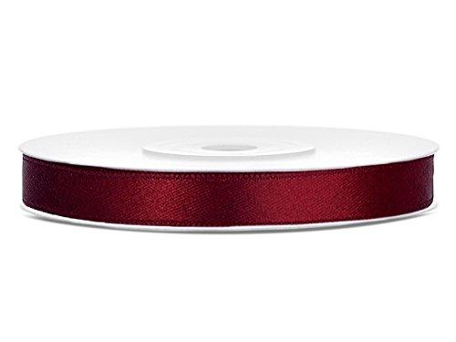 Like a Girl- wir lieben Hochzeiten Satinband 6mm breit / 25 m lang (Bordeaux)